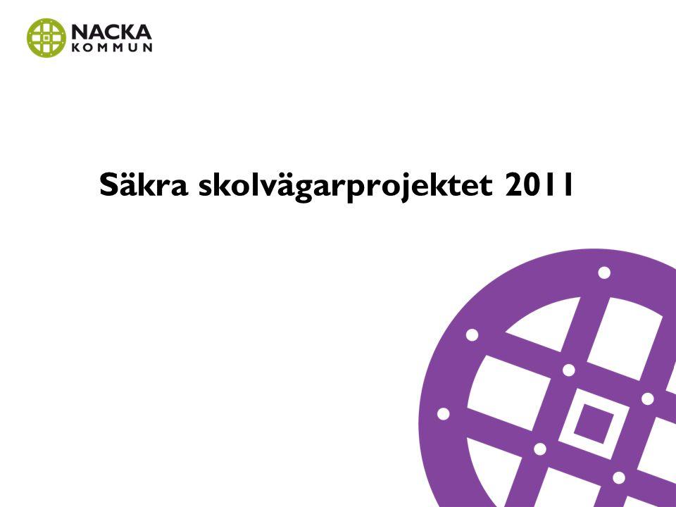 Ektorps skola Under hösten 2010 och våren 2011 genomfördes ett säkra skolvägar pilotprojekt på Ektorps skola för att ta fram en mall för hur vi ska jobba med att öka trafiksäkerheten kring skolorna i Nacka kommun.