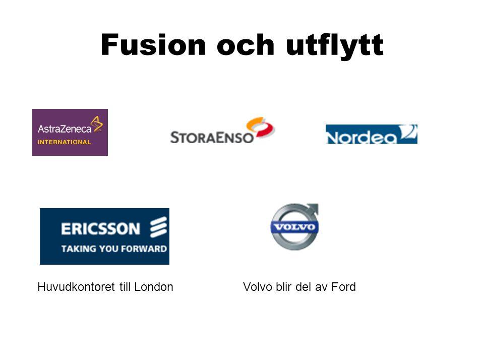 Fusion och utflytt Huvudkontoret till LondonVolvo blir del av Ford