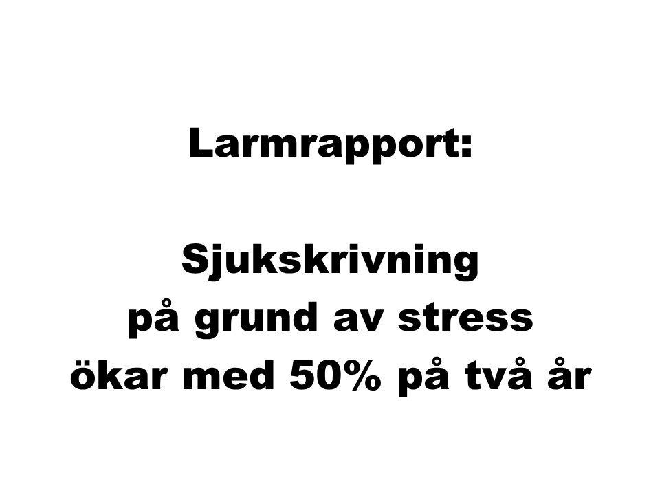 Larmrapport: Sjukskrivning på grund av stress ökar med 50% på två år