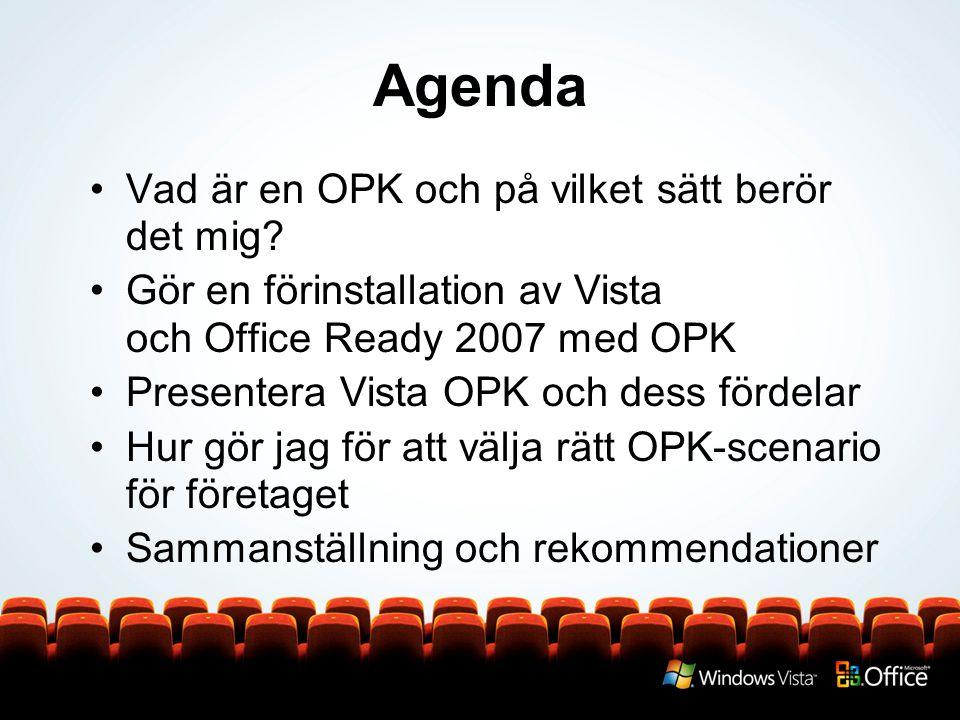 Agenda Vad är en OPK och på vilket sätt berör det mig.