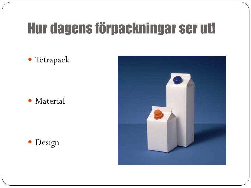 Hur dagens förpackningar ser ut! Tetrapack Material Design