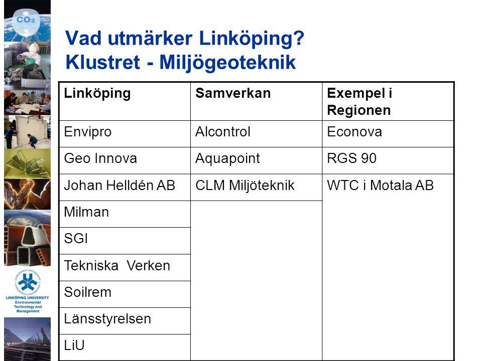 Vad utmärker Linköping.