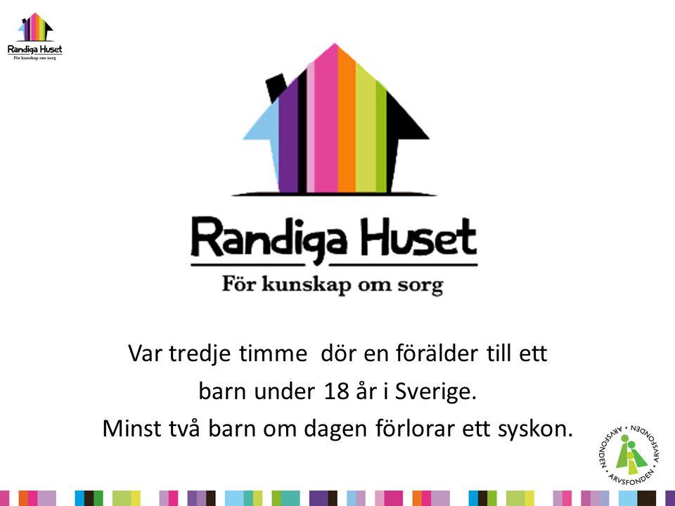 Var tredje timme dör en förälder till ett barn under 18 år i Sverige. Minst två barn om dagen förlorar ett syskon.