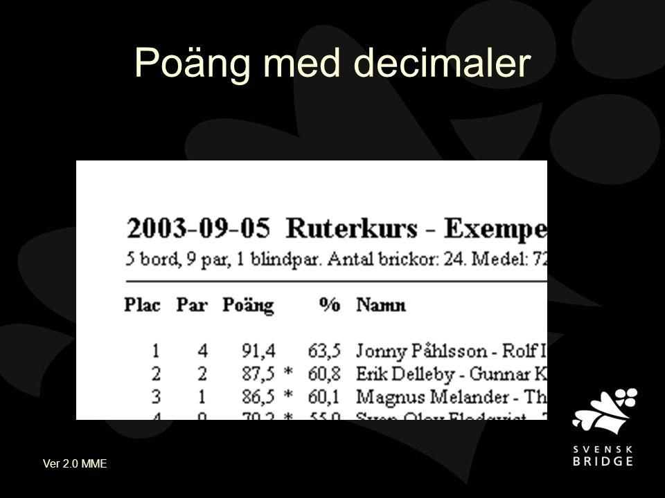 Ver 2.0 MME Poäng med decimaler