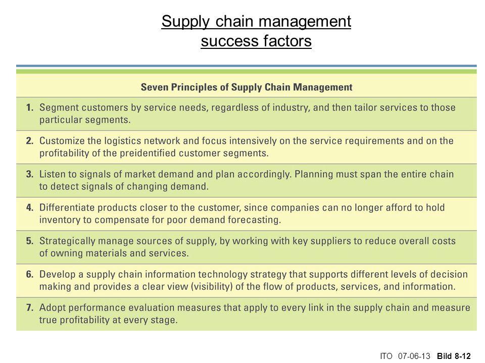 ITO 07-06-13 Bild 8-12 Supply chain management success factors