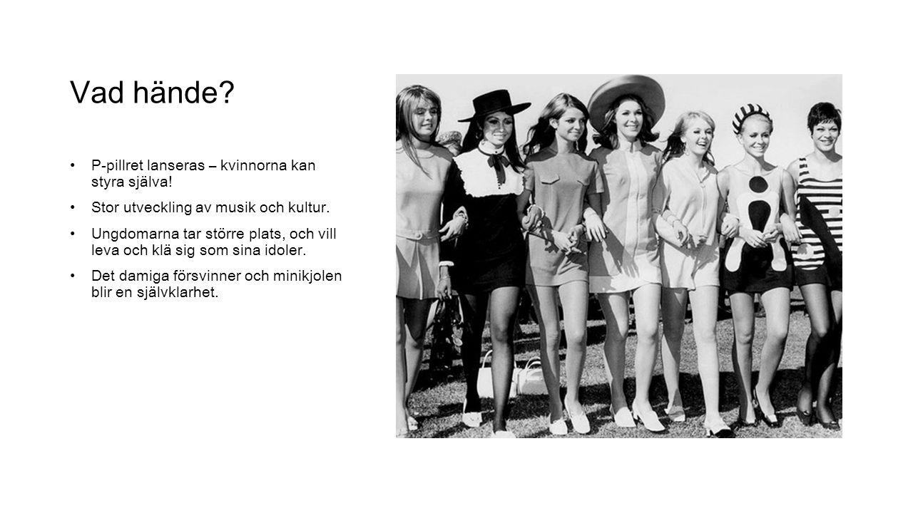 Välkommen! Här kommer du att få en inblick i det kvinnliga modet på 60-talet. Nytänkandet i samhället visade sig även i hur kvinnorna klädde sig, följ
