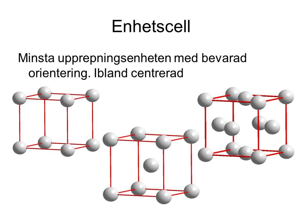 Intermetalliska föreningar Dessa är inte legeringar utan utgör helt nya föreningar.