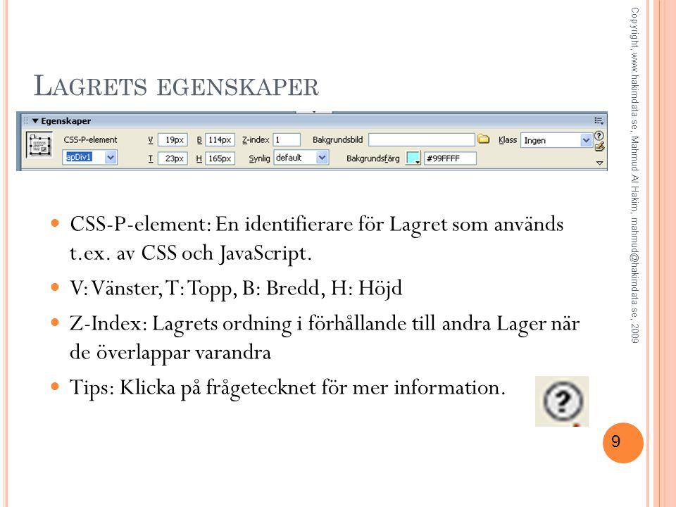 50 S KAPA NÅGRA SIDOR FRÅN MALLEN OBS.Skapa en ny index.html från mallen.