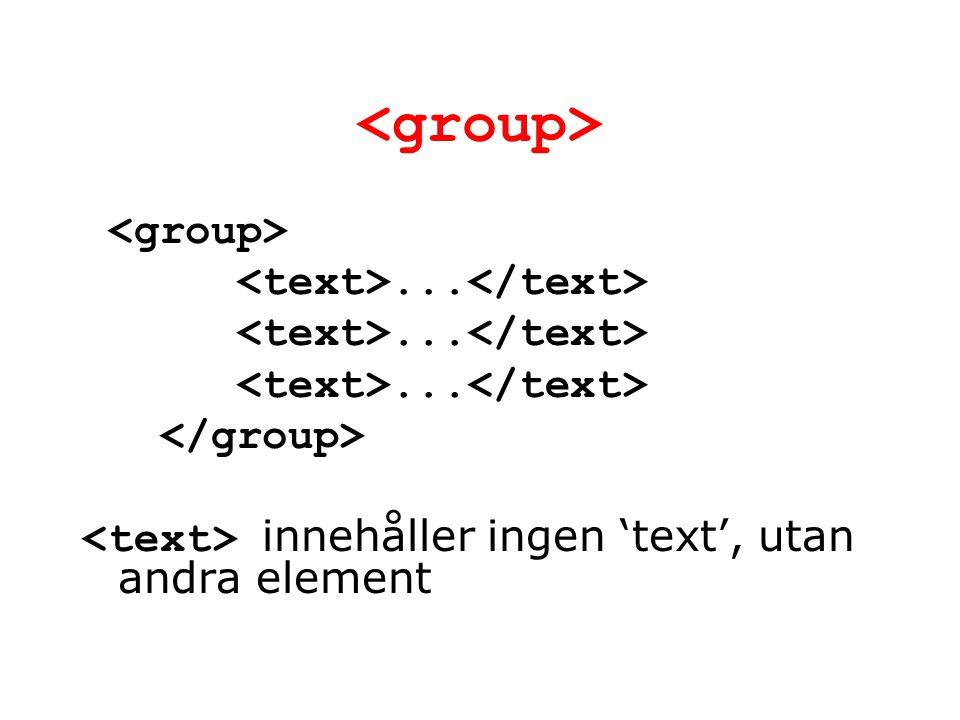 ... innehåller ingen 'text', utan andra element