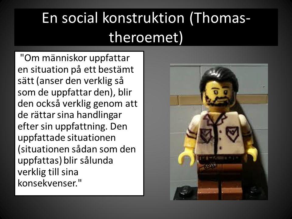 En social konstruktion (Thomas- theroemet)