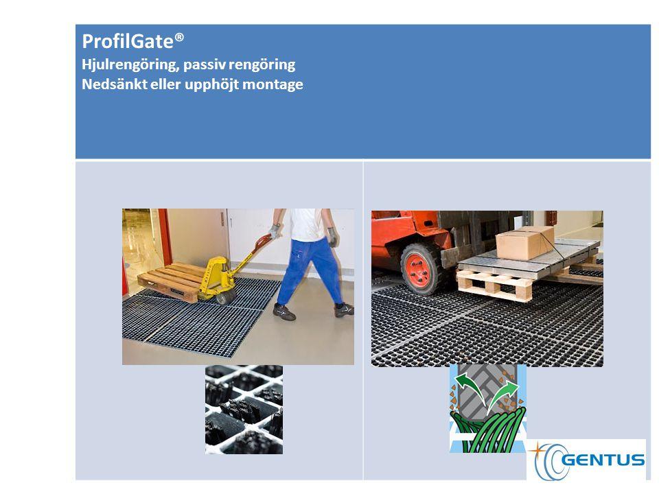 ProfilGate® Hjulrengöring, passiv rengöring Nedsänkt eller upphöjt montage