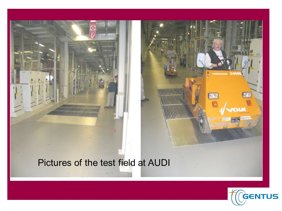 Pictures of the test field at AUDI