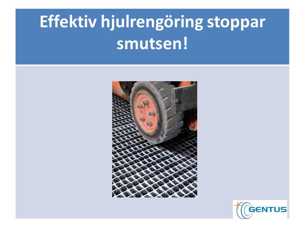 Effektiv hjulrengöring stoppar smutsen!