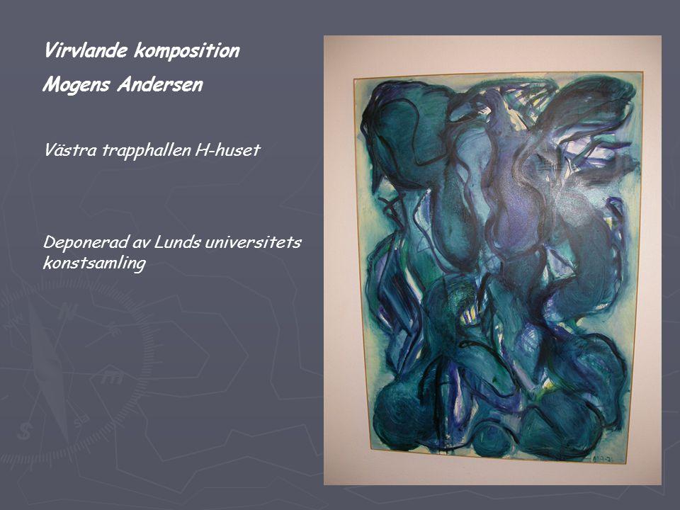 Virvlande komposition Mogens Andersen Västra trapphallen H-huset Deponerad av Lunds universitets konstsamling