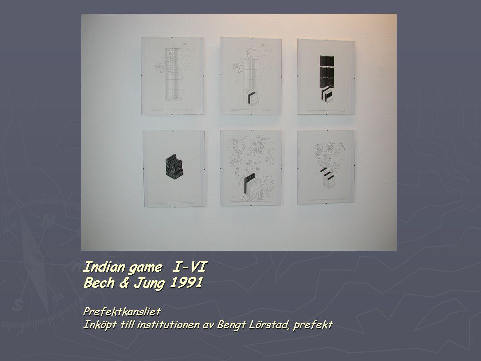 Indian game I-VI Bech & Jung 1991 Prefektkansliet Inköpt till institutionen av Bengt Lörstad, prefekt