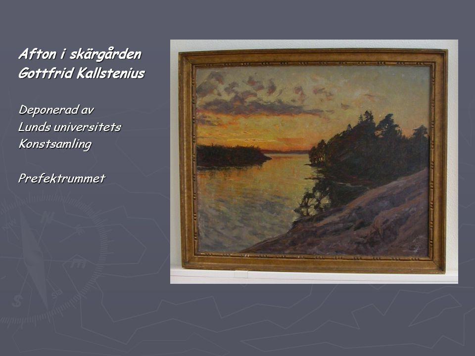Afton i skärgården Gottfrid Kallstenius Deponerad av Lunds universitets KonstsamlingPrefektrummet