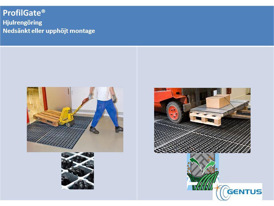 ProfilGate® Hjulrengöring Nedsänkt eller upphöjt montage
