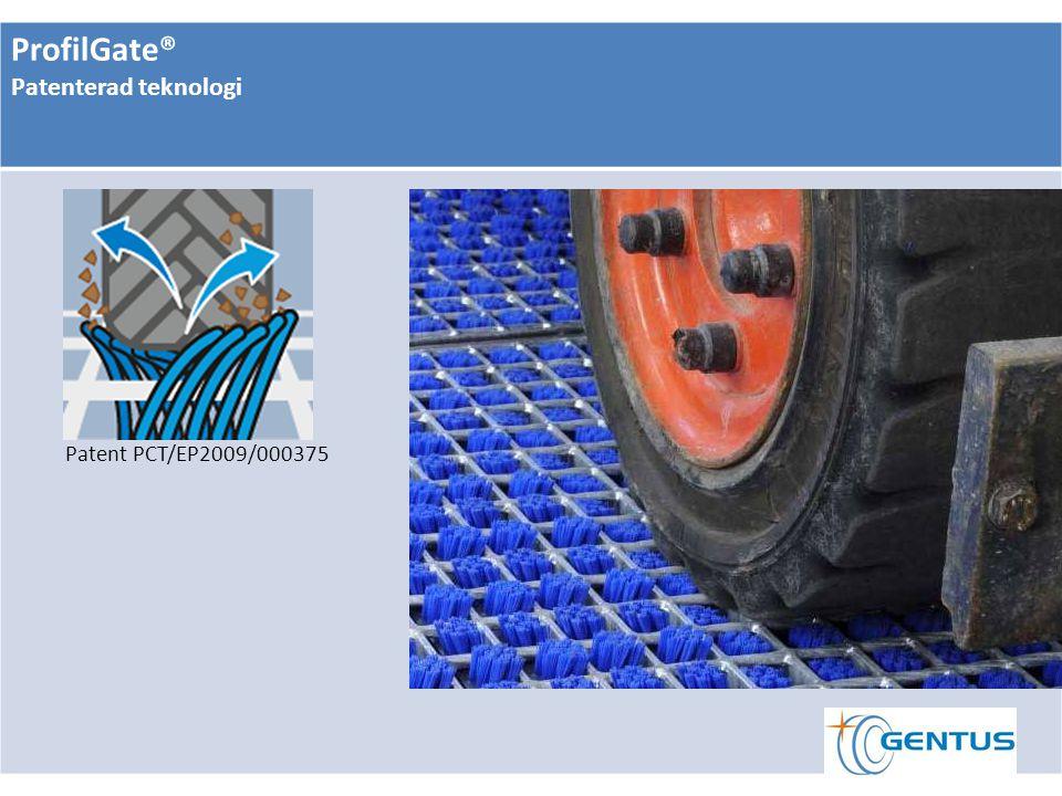 ProfilGate® Patenterad teknologi Patent PCT/EP2009/000375
