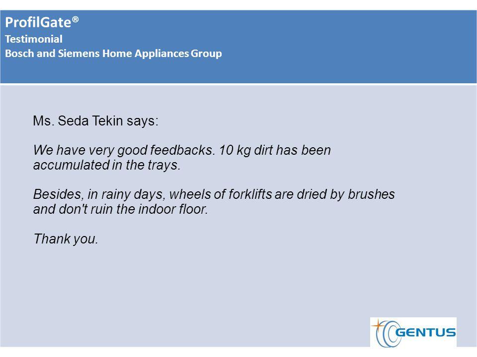 ProfilGate® Testimonial Bosch and Siemens Home Appliances Group Ms.