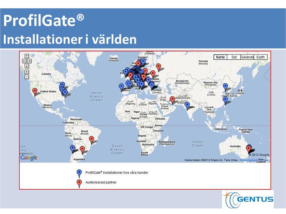 ProfilGate® Installationer i världen