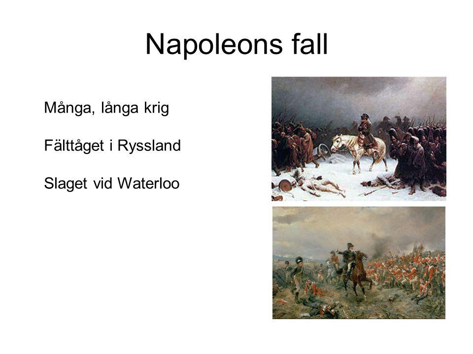 Napoleons fall Många, långa krig Fälttåget i Ryssland Slaget vid Waterloo