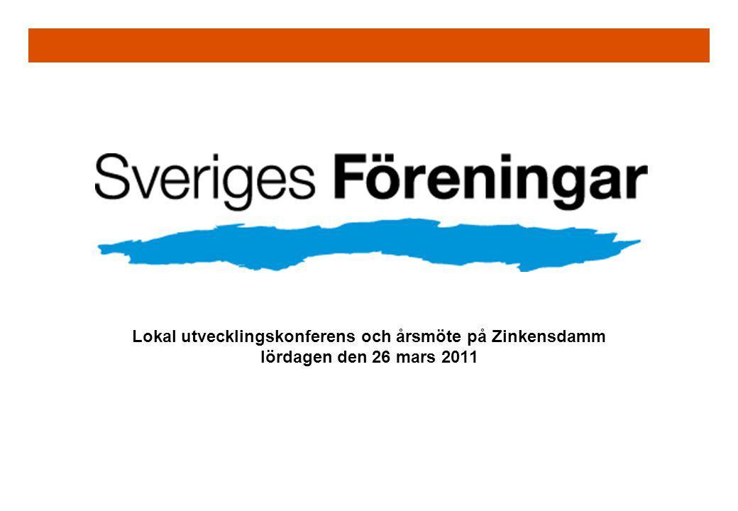 Lokal utvecklingskonferens och årsmöte på Zinkensdamm lördagen den 26 mars 2011