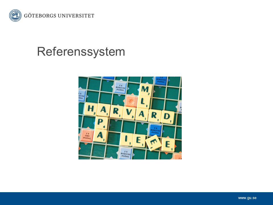 www.gu.se Referenssystem