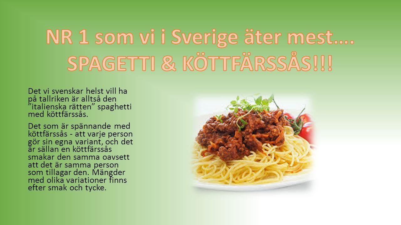 Topplista… 10-1 10.Lasange 9. Soppa 8. Köttbullar med Potatis/ris/pasta 7.