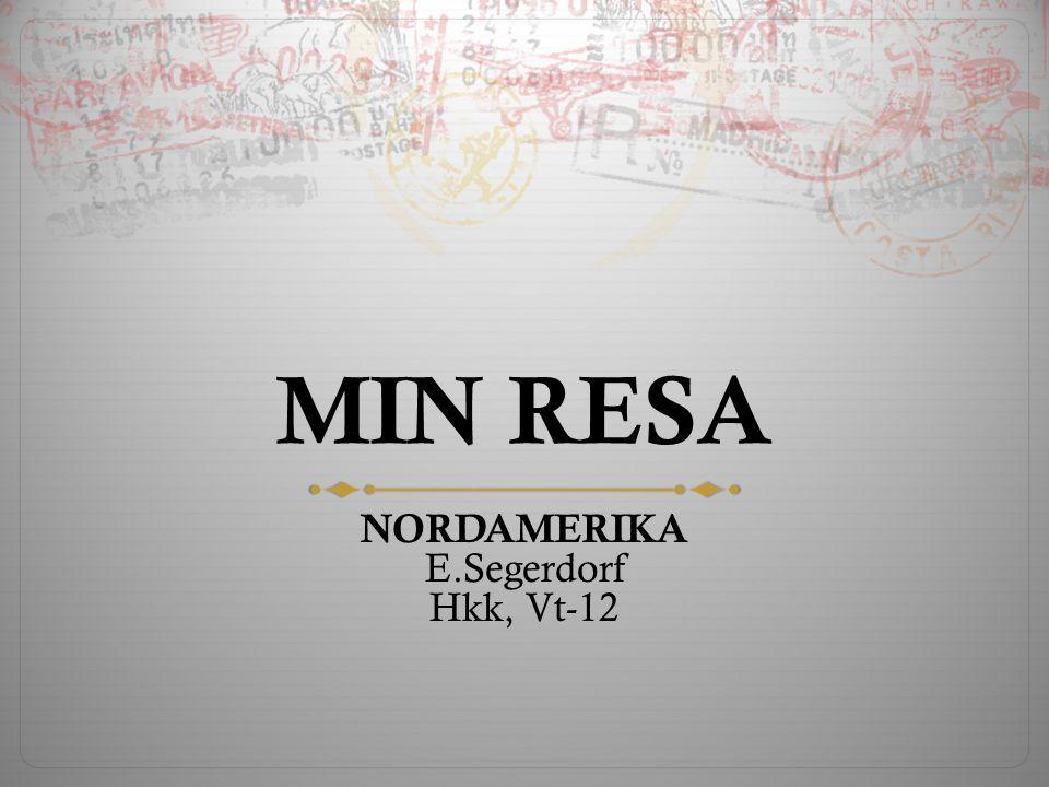 MIN RESA NORDAMERIKA E.Segerdorf Hkk, Vt-12