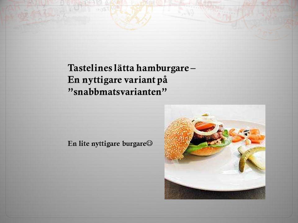 Tastelines lätta hamburgare – En nyttigare variant på snabbmatsvarianten En lite nyttigare burgare
