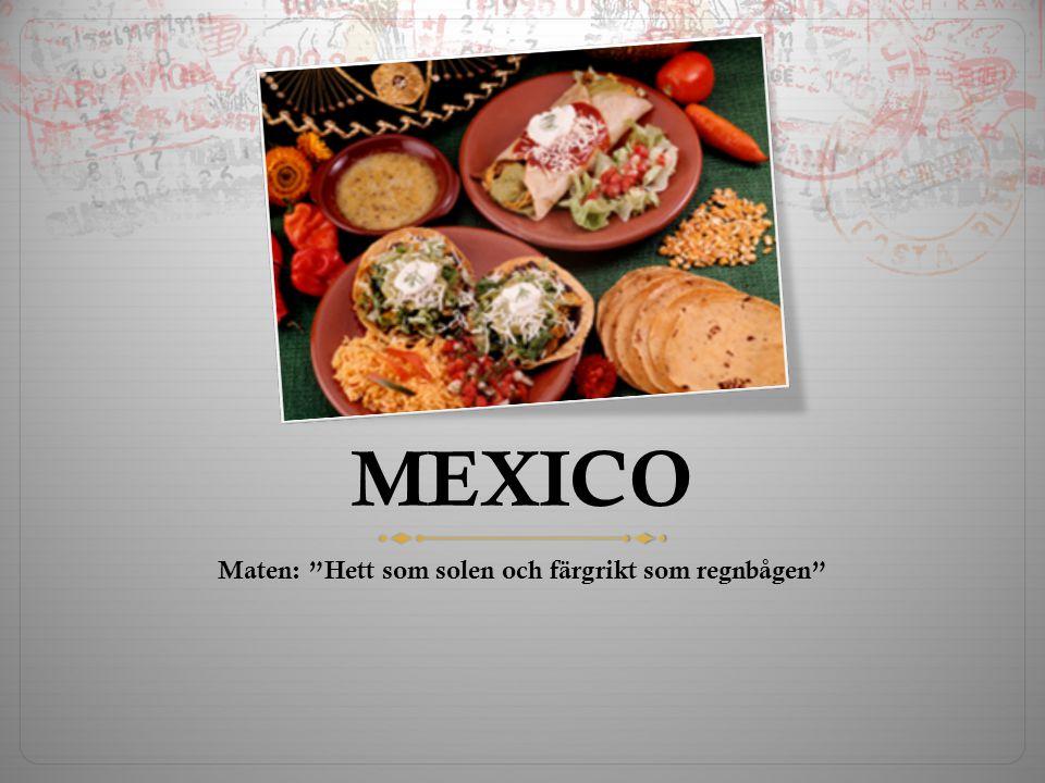 MEXICO Maten: Hett som solen och färgrikt som regnbågen