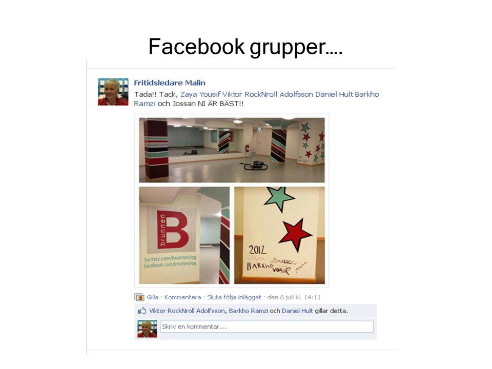 Facebook grupper….