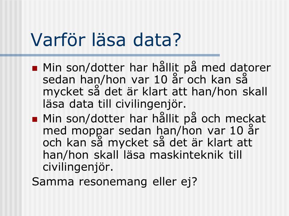 Varför läsa data.