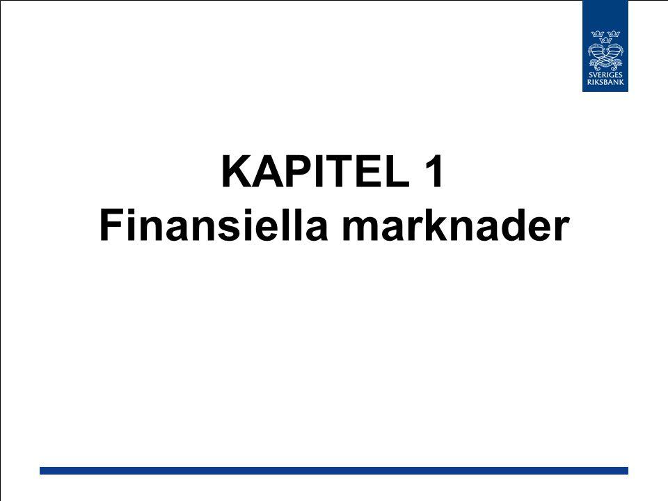 KAPITEL 1 Finansiella marknader