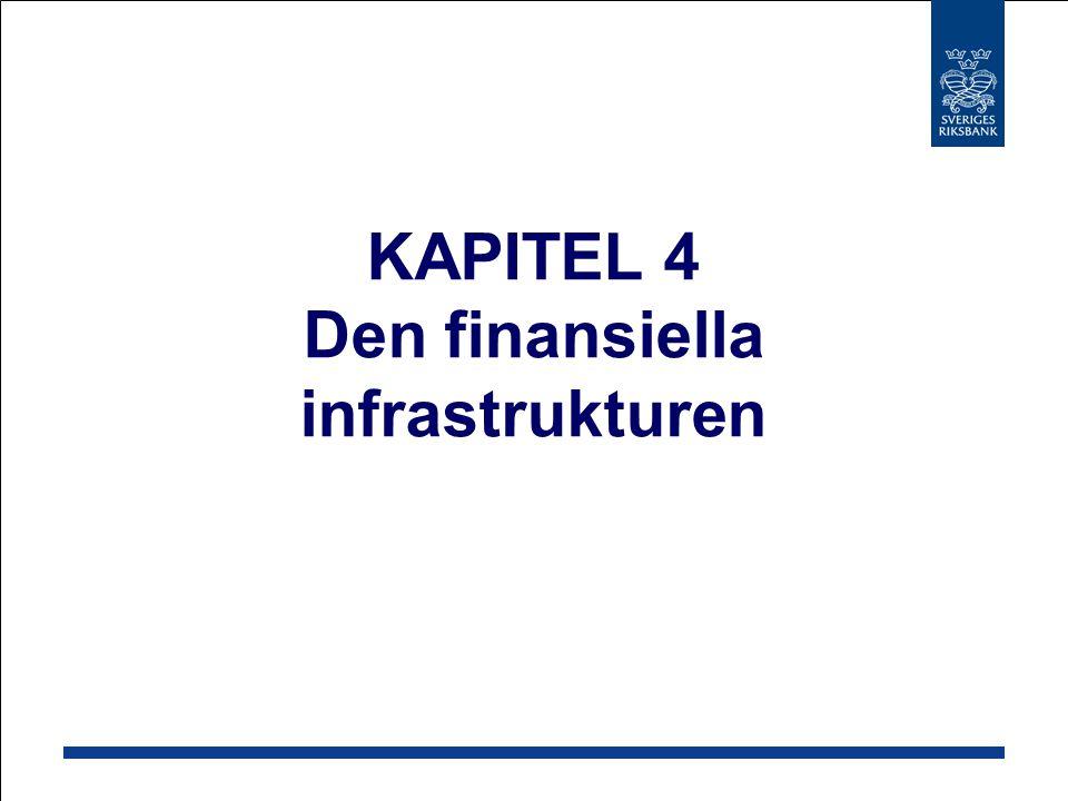 KAPITEL 4 Den finansiella infrastrukturen