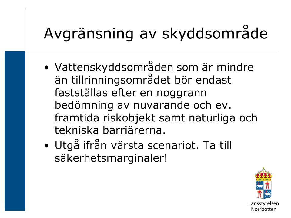 Skyddsföreskrifter Ur allmänna råd till 7 kap.