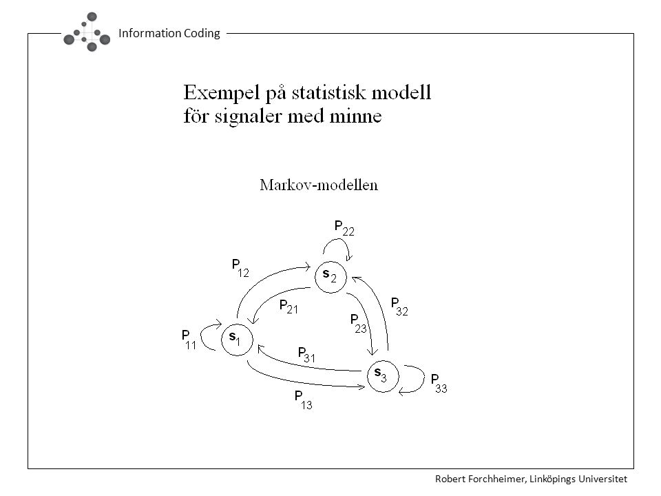 Robert Forchheimer, Linköpings Universitet Information Coding