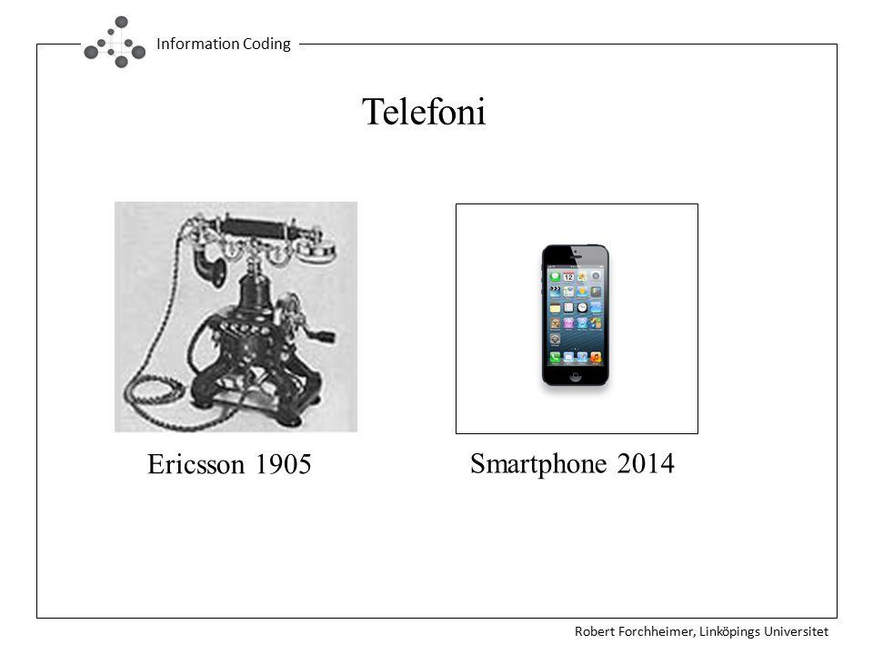 Robert Forchheimer, Linköpings Universitet Information Coding g Ericsson 1905 Smartphone 2014 Telefoni