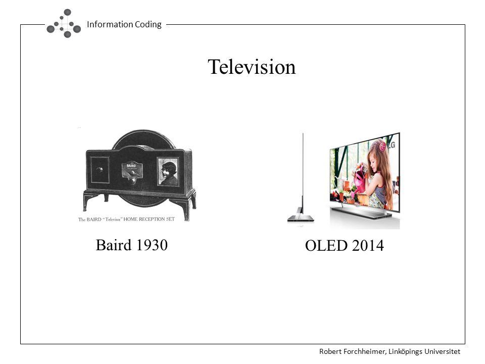 Robert Forchheimer, Linköpings Universitet Information Coding Baird 1930 Television OLED 2014