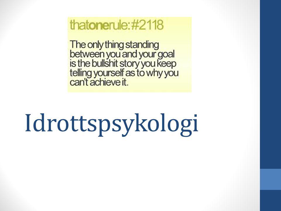 Idrottspsykologi