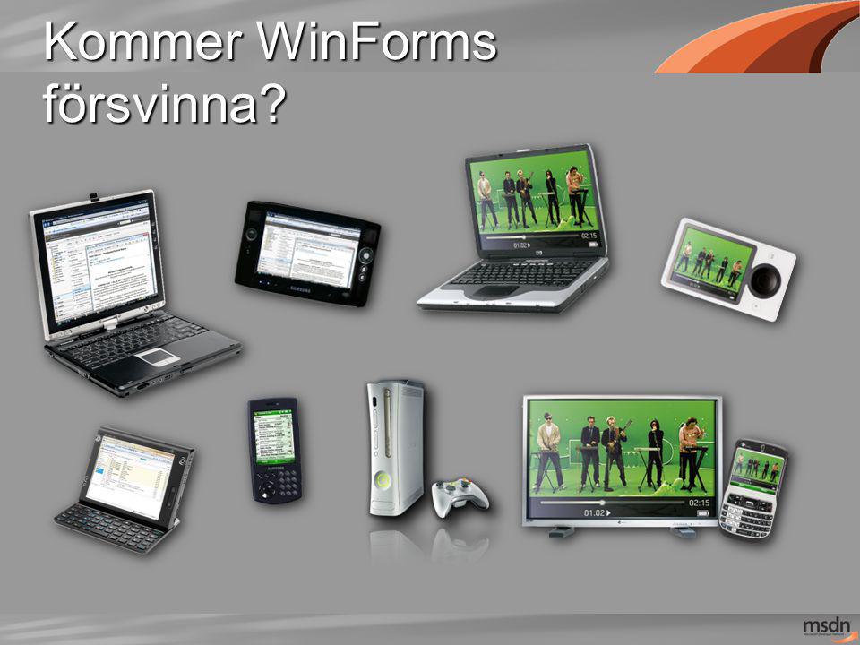 Kommer WinForms försvinna?