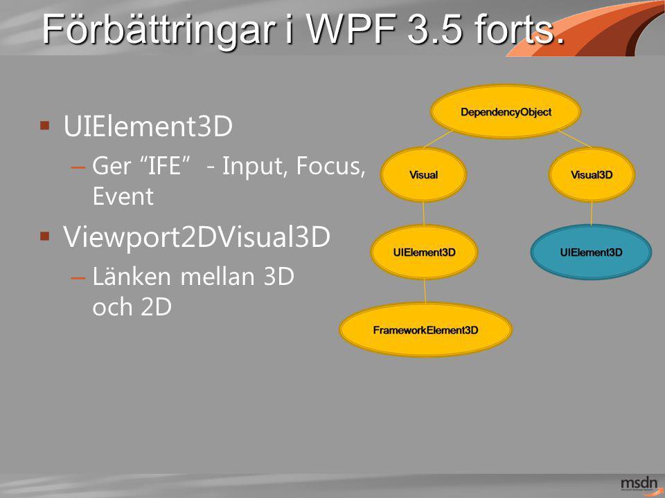 Förbättringar i WPF 3.5 forts.