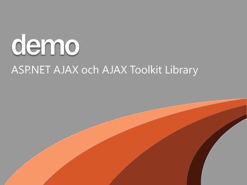 ASP.NET AJAX och AJAX Toolkit Library