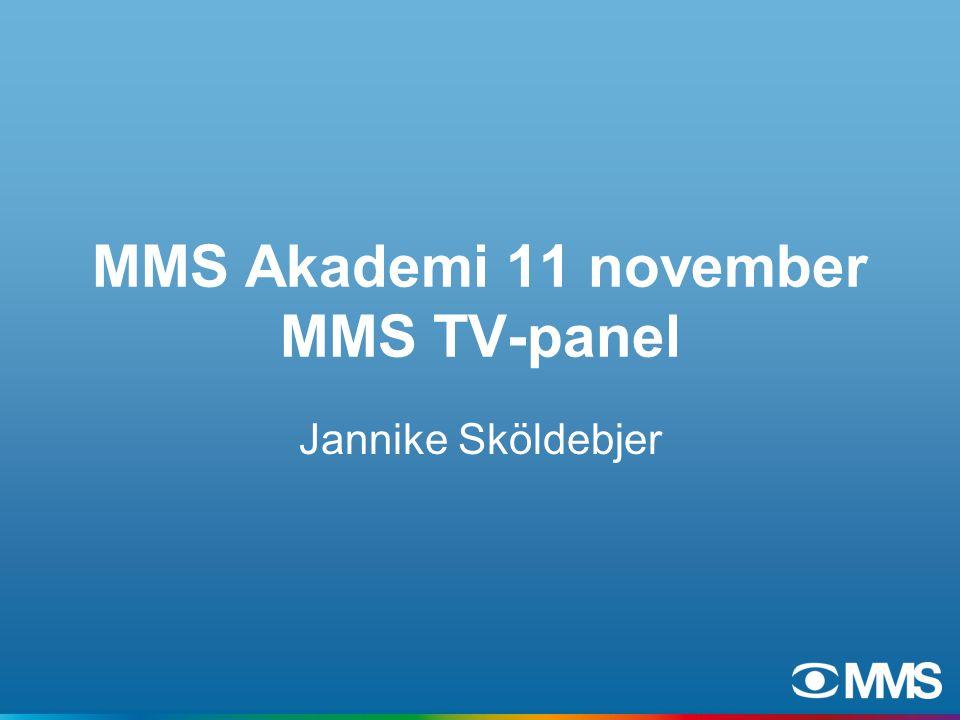 MMS Akademi 11 november MMS TV-panel Jannike Sköldebjer