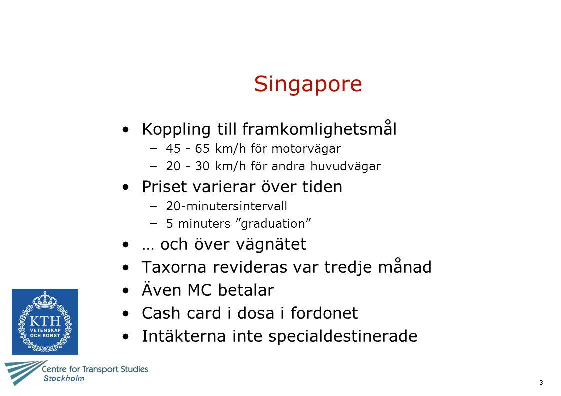 4 Stockholm Singapore - priser