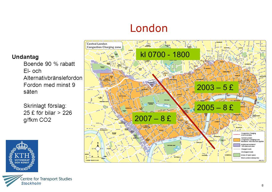 29 Stockholm Milano Effekter (jämfört med oktober 2007) Medelhastighet +4 % (+7% för buss) PM10 -19 % NOx -11 % CO2 – 9 % Kollresor + 6 % Olyckor -14 % (jämfört med hela 2007)