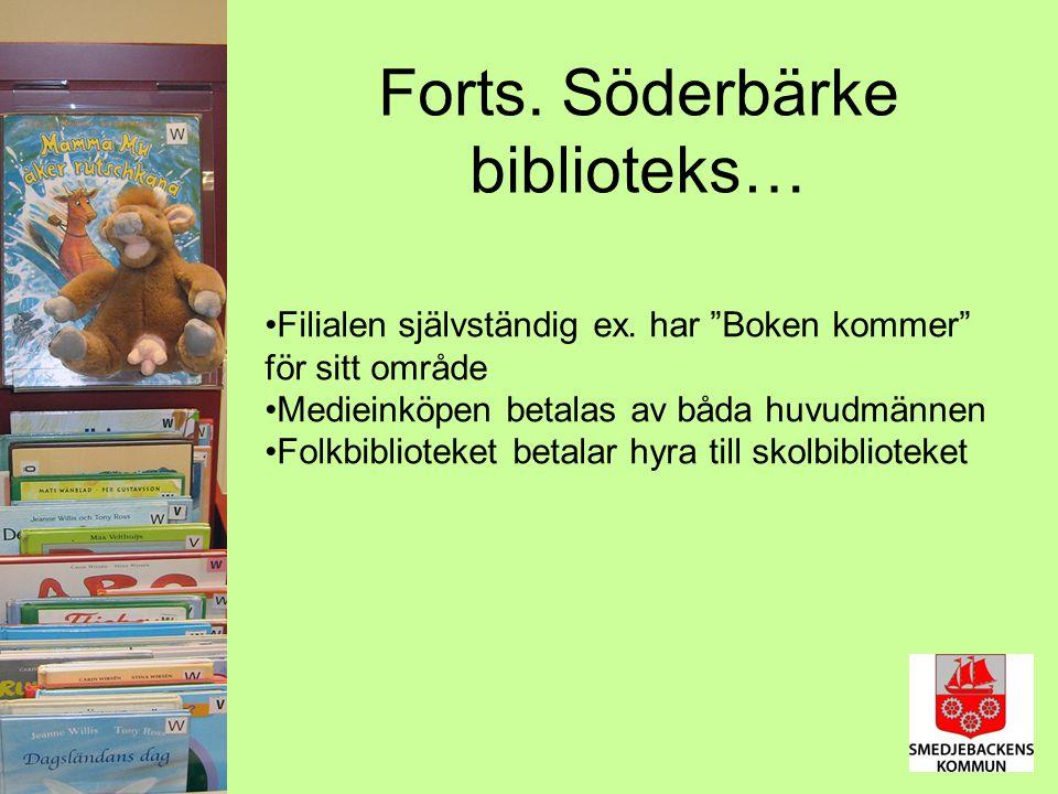 Forts. Söderbärke biblioteks… Filialen självständig ex.