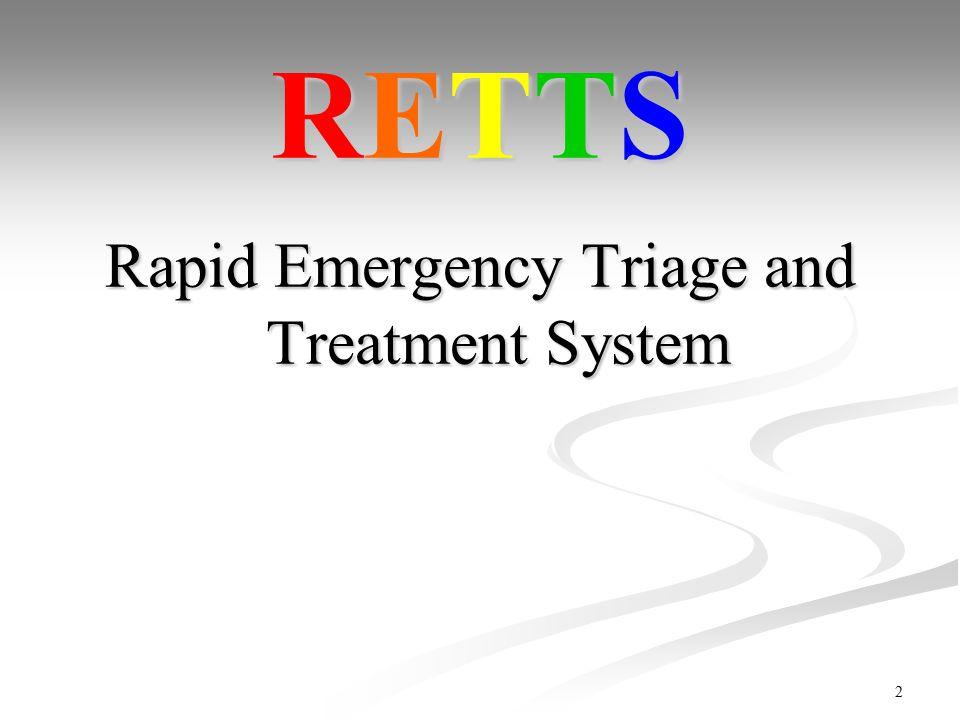 2 31-Mar-15 Slide 2 RETTS Rapid Emergency Triage and Treatment System