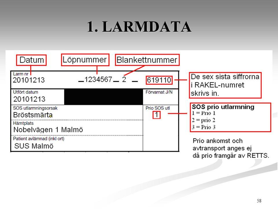 58 1. LARMDATA