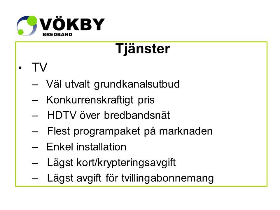 Tilläggspaket TV! 199:- 139:- 149:- 99:-/st/månad